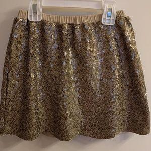 Peek kids gold sequin skirt